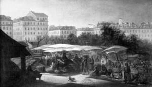 Praza da Figueira. Mercado ao aire libre nos tempos de Manuela Rey 2