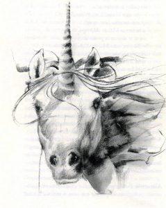 Unicornio (debuxo de Lázaro Enríquez)