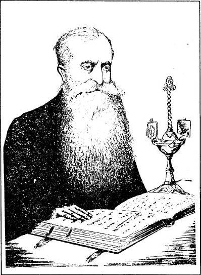 E. Lence (debuxo de B. Vidarte publicado en La Voz de Galicia o 18.10.1983)