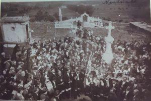 Homenaxe a Veiga no Cemiterio de Mondoñedo (23.10.1917) (Arquivo Cántigas da Terra)