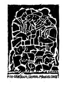 Homenaxe a Siervo, Graciano e Manuel (obra de Xosé Vizoso)