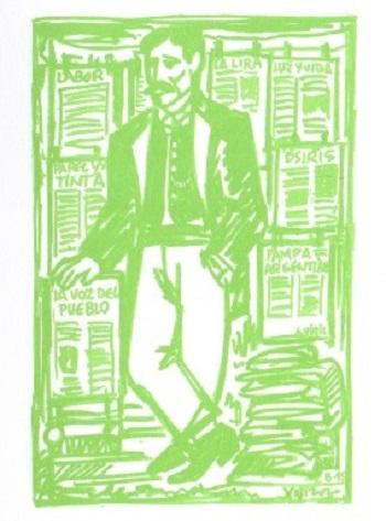Ilustración de Xosé Vizoso para o libro 'Semente galega en América', de X. Neira Vilas.